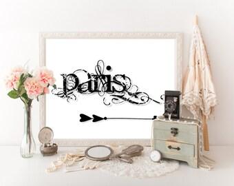 Paris Poster, Paris Decor, Paris Travel Poster, Paris Print, Paris Art, Paris Download, Paris Wall Art, Travel Decor, Paris Printable 0310
