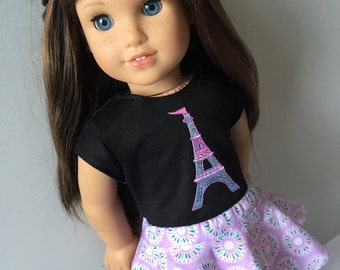Purple Psych Skirt. 18 inch doll clothes. Fits American Girl doll