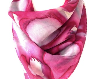 Bandana scarf Silk pocket square Silk scarf Pink silk scarf Paisley scarf Indian silk scarf Best selling items Unique gifts Handmade gifts