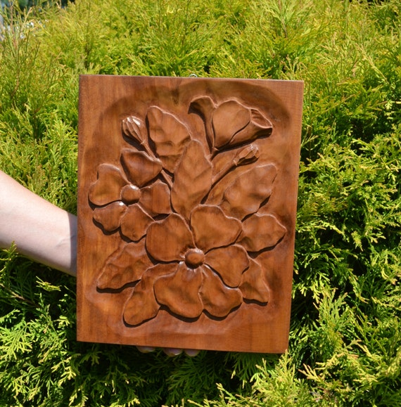 Flowers decorational wall hanging relief sculpture