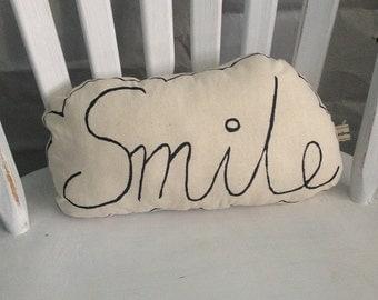 Smile Cushion/ Speech Bubble Cushion/ Smile Speech Bubble