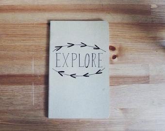Explore Hand Lettered Journal