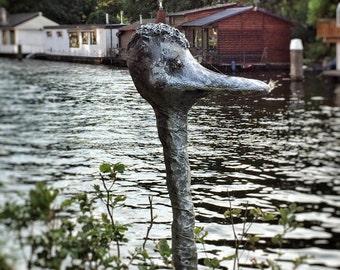 home garden decoration Ostrich statue, Garden statue Garden ostrich lawn decoration ostrich bird statue, elegant animal statue bird statue