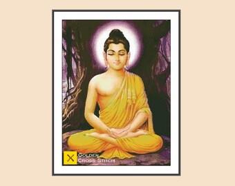 Gautama Buddha  Cross Stitch Pattern - Instant Download