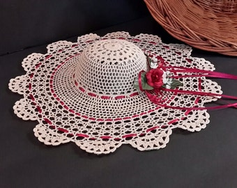 Doily Wall Decoration, Crocheted Doily Hat Decoration, Crocheted Wall Decor, Gift Giving