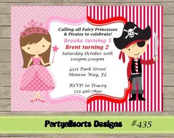 DIY - Fairy Princess and Pirate Invitation Cards