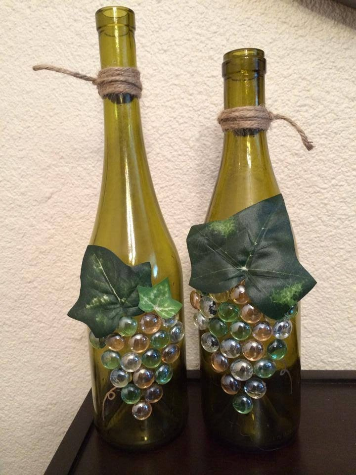 Wine Bottle Glass And Grapes In Oil Painting Effect ... |Grapes Wine Bottle Artwork