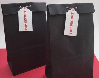 Spy Party Favor Bags: Secret Agent Favor Bags,  Spy Party Bags, Spy Party Treat Bags