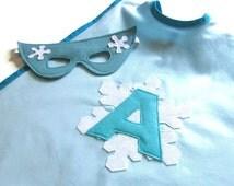 Personalised Snowflake Cape - Ice Queen Costume - Custom Cape -  Ice Princess Costume - Frozen Cape - Frozen Costume - Snow Queen Cape
