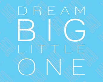 "Dream Big Poster Print - Blue with White (11""x14"")"