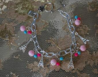 Paris Charm bracelet,  theme charm bracelet,  charm bracelet, paris barcelet