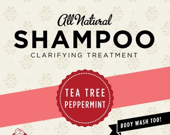 Tea Tree Peppermint Organic Shampoo