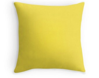 Yellow Pillow, Yellow Throw Pillow, Yellow Accent Pillow, Yellow Toss Pillow, Yellow Room Decor, Yellow Bedding, Yellow Cushion, Yellow Room