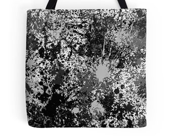 Paint Splatter Bag, Paint Splash Bag, Paint Splatter Tote, Black Paint Splash Bag, Paint Spill Tote, Paint Splash Bookbag, Paint Spill Bag