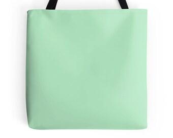 Green Tote Bag, Mint Green Bag, Green Purse, Mint Green Bag, Green Bookbag