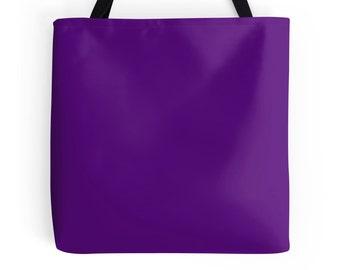 Purple Tote Bag, Purple Bag, Purple Purse, Purple Tote, Purple Bookbag, Purple Accessories, Solid Purple Tote, Solid Purple Bag, Purple