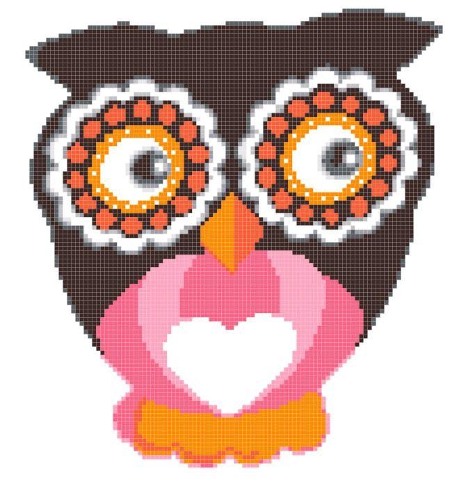 Owl cross stitch pattern easy