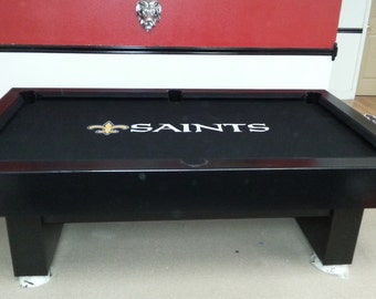 8ft New Orleans Saints Pool Table !