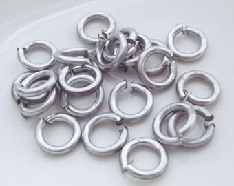 Aluminum Jump Rings 14 Gauge 10mm
