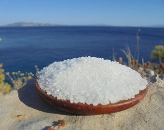 Natural Raw Greek Coarse Sea Salt from Messolonghi, Gourmet Salt , Crystal Salt,Cooking Slt, Bath Salt 10.5 oz  (300 gr)