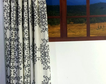 SALE! Dwell Studio Soft Scrolls,Designer, Lined Curtains, Drapes (Sold in Pairs) LAST CHANCE!