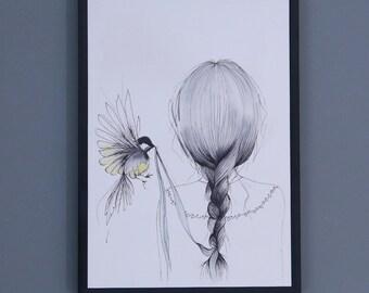 Bird Love Print - A4