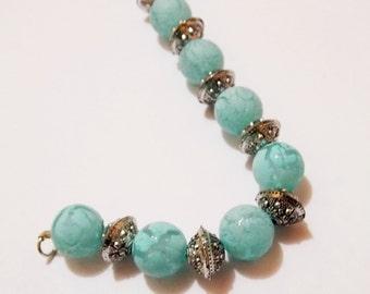 Neon beads bracelet