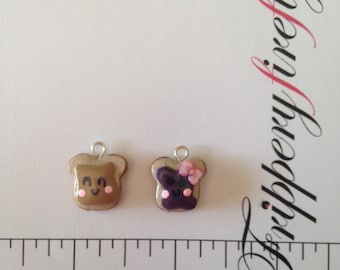 Happy Peanut Butter Toast + Jelly Toast Charms