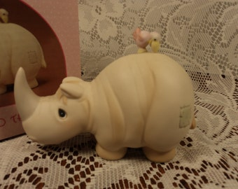 Precious Moments Friends to the End Rhino Figurine