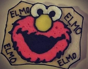 Elmo Sugar Cookies (1/2 Dozen)