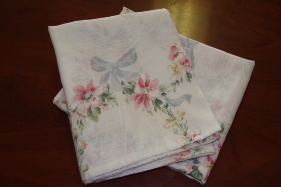 Two Vintage Standard pillowcases/Shabby Chic/Floral