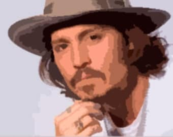 Johnny Depp Pop Art *** downloadable ***