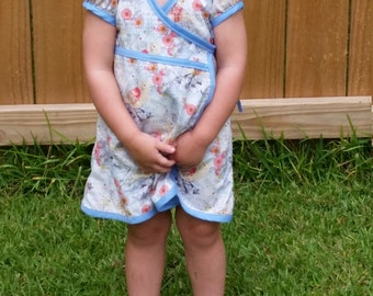 Toddler and Girls Wrap Dress - 3 Sizes Available