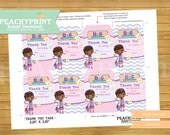 Doc McStuffins Birthday Thank You Tags Instant Download