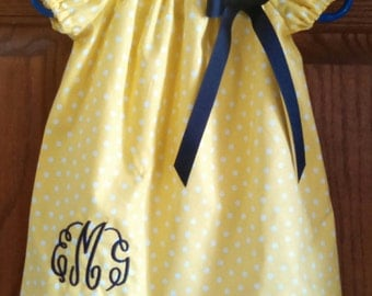 Monogrammed Peasant Dress for Baby/Toddler/Girl, Spring Dress, Easter Dress, Summer Dress