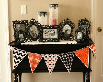 Quilted Riley Blake Halloween Banner Bunting Flags