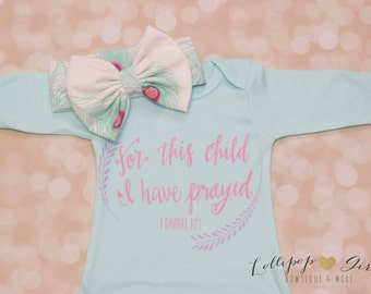 For this child I have prayed; Baby Gown