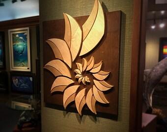 Wood Sculpture | Wall Art | Shell