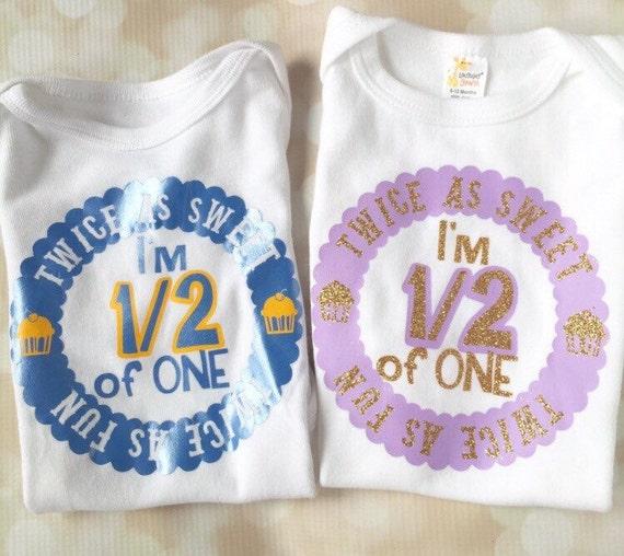 Twin Birthday Matching Shirt Set