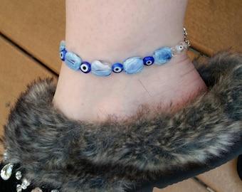Blue Evil Eye Anklet
