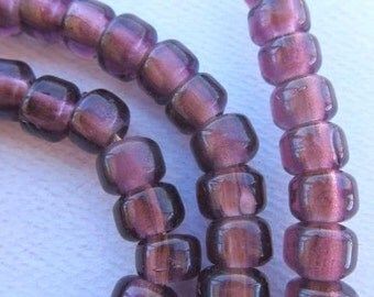 African Trade Beads - Lavender Transparent Padre Beads (9x6mm) [61351]