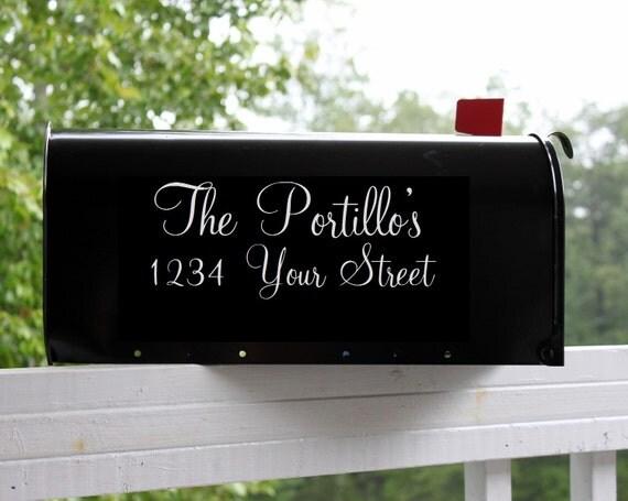 nom de famille bo te aux lettres sticker autocollant nom de. Black Bedroom Furniture Sets. Home Design Ideas