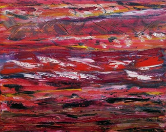 Pagra - 16 x 20 x 3/4 inch Original Abstract Oil Painting