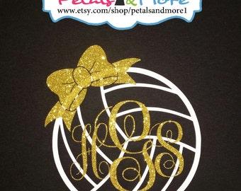 Monogrammed Volleyball Shirt