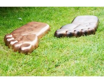 Big Foot garden stepping stones