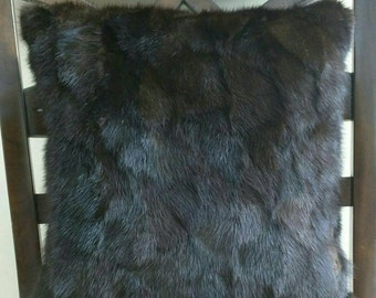 Genuine Mink Decorative Pillow Cover.    12 x 12 Includes insert