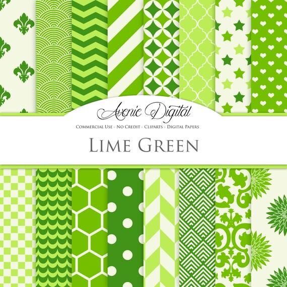 Lime Green Digital Paper Scrapbook Backgrounds Irish Patterns Mesmerizing Irish Patterns