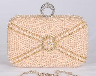 Pearl Clutch Bag, Evening Clutch, Bridal Clutch Bag, Custom Wedding Accessories 68
