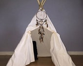 Kids' Teepee READY to Ship Canvas Child's 4' ,4 panel, Our Essential Kids' Play Tent Highest quality. POLES INCLUDED!