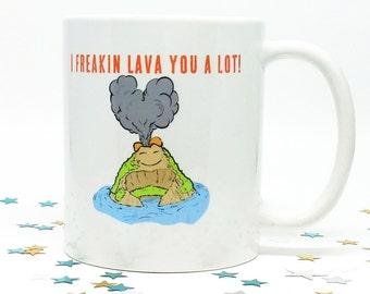 Christmas Gift, Coffee Mug, Gift for Her, Gift for Him, Holiday Gift, Coffee Cup, Funny Coffee Mug, Coffee Lover Gift, I lava you